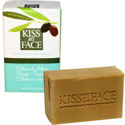 Kiss My Face, Olive & Aloe Soap Bar, 8oz (230g)