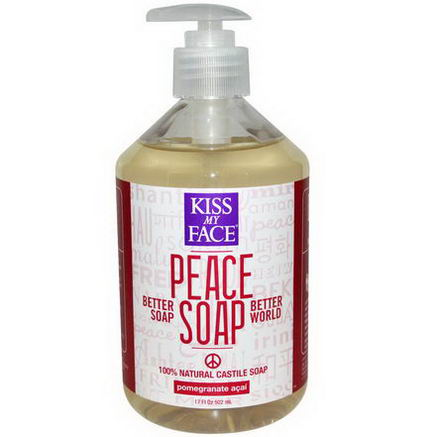 Kiss My Face, Peace Soap, Pomegranate Acai, 17 fl oz (502 ml)