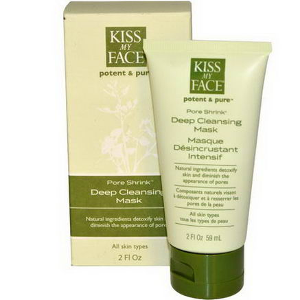 Kiss My Face, Potent & Pure, Pore Shrink, Deep Cleansing Mask, 2 fl oz (59 ml)