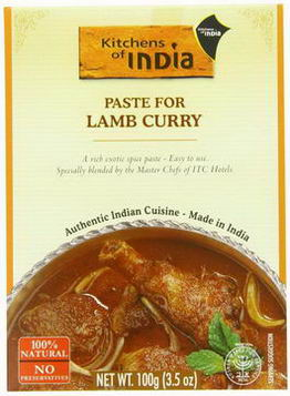 Kitchens of India, Paste For Lamb Curry, 3.5oz (100g)