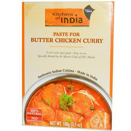 Kitchens of India, Paste for Butter Chicken Curry, 3.5oz (100g)