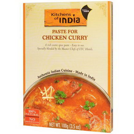 Kitchens of India, Paste for Chicken Curry, 3.5oz (100g)