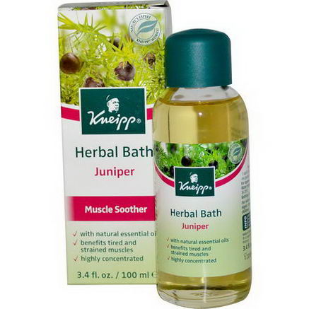Kneipp, Herbal Bath, Muscle Soother, Juniper, 3.4 fl oz (100 ml)
