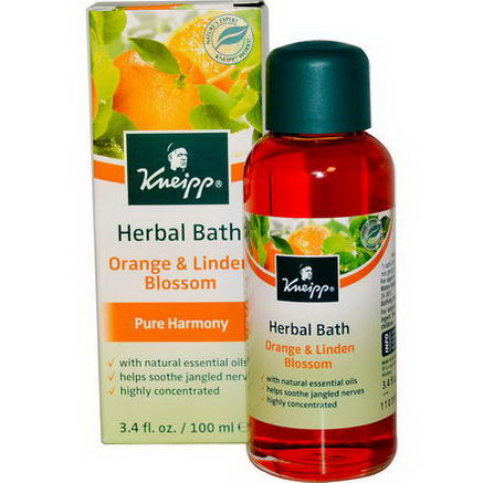 Kneipp, Herbal Bath, Pure Harmony, Orange & Linden Blossom, 3.4 fl oz (100 ml)