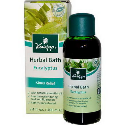 Kneipp, Herbal Bath, Sinus Relief, Eucalyptus, 3.4 fl oz (100 ml)