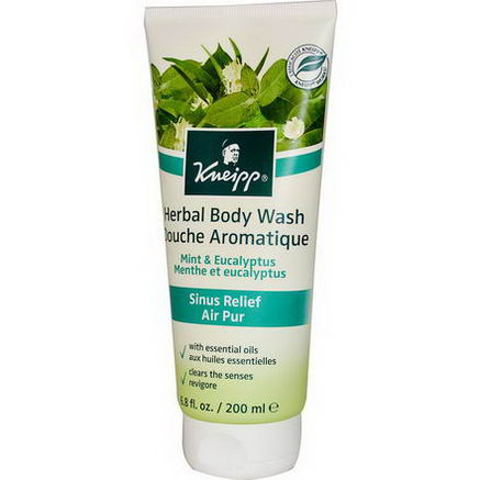 Kneipp, Herbal Body Wash, Mint & Eucalyptus, 6.8 fl oz (200 ml)