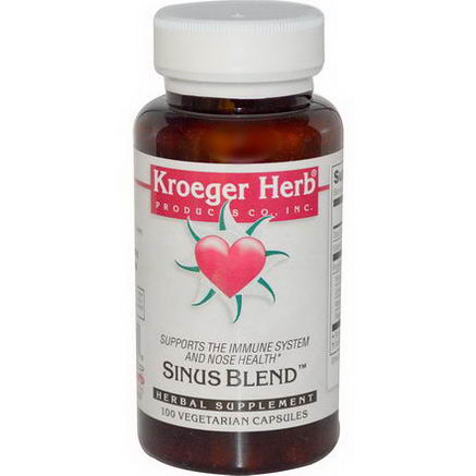 Kroeger Herb Co, Sinus Blend, 100 Veggie Caps