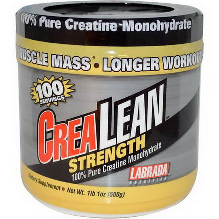 Labrada Nutrition, CreaLean Strength, 100% Pure Creatine Monohydrate, 1 lb1oz (500g)