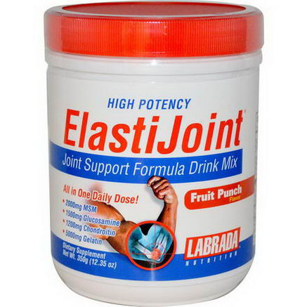 Labrada Nutrition, ElastiJoint, Joint Support Formula Dink Mix, Fruit Punch Flavor, 12.35oz (350g)