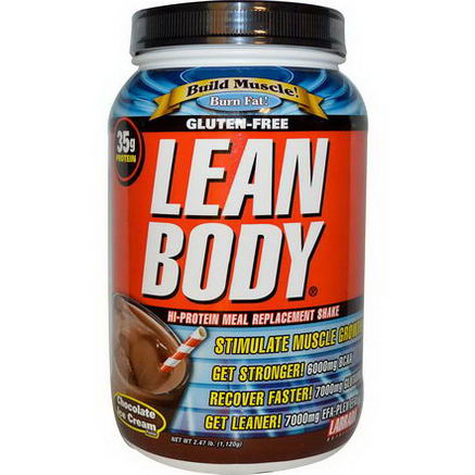 Labrada Nutrition, Lean Body, Hi-Protein Meal Replacement Shake, Chocolate Ice Cream Flavor, 2.47 lbs (1, 120g)