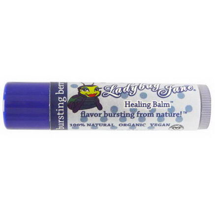 LadyBug Jane, Healing Lip Balm, Bursting Berry, 0.14oz (4g)