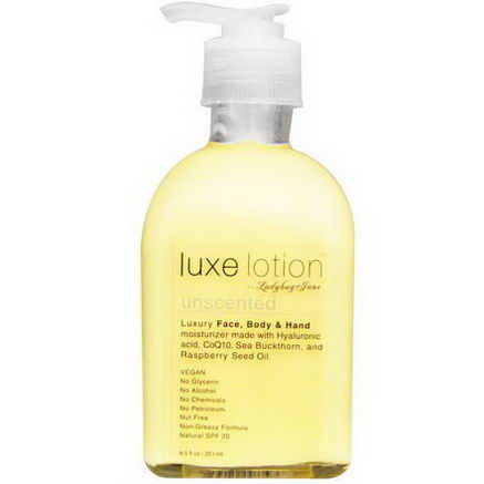 LadyBug Jane, Luxe Lotion, Luxury Face, Body, & Hand Moisturizer, Unscented, 8.5 fl oz (251 ml)