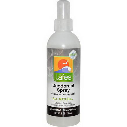 Lafe's Natural Body Care, Deodorant Spray, Unscented, 8oz (236 ml)