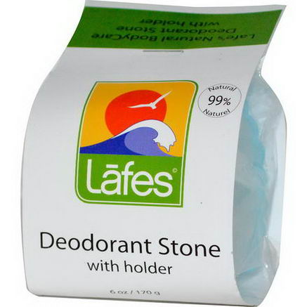 Lafe's Natural Body Care, Deodorant Stone with Holder, 6oz (170g)