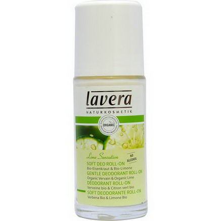 Lavera Naturkosmetic, Gentle Deodorant Roll-On, Lime Sensation, 1.6 fl oz (50 ml)
