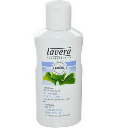 Lavera Naturkosmetic, Purifying Facial Toner, Ginkgo & Organic Grape, 4.1 fl oz (125 ml)