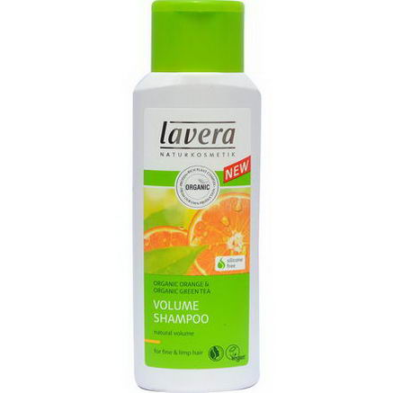 Lavera Naturkosmetic, Volume Shampoo, Organic Orange & Organic Green Tea, 6.6 fl oz (200 ml)