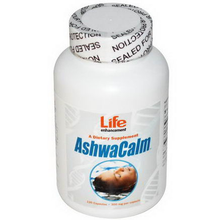 Life Enhancement, AshwaCalm, 300mg, 120 Capsules
