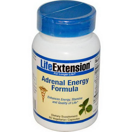 Life Extension, Adrenal Energy Formula, 60 Veggie Caps