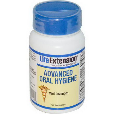Life Extension, Advanced Oral Hygiene, Mint Lozenges, 60 Lozenges