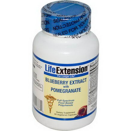 Life Extension, Blueberry Extract with Pomegranate, 60 Veggie Caps