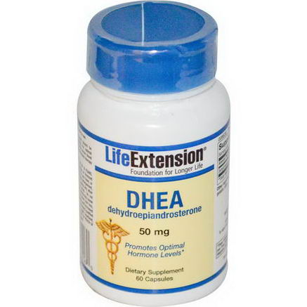 Life Extension, DHEA, 50mg, 60 Capsules