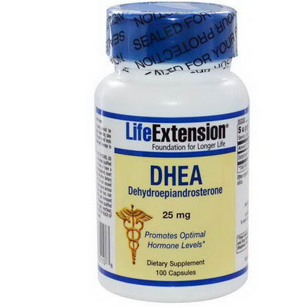 Life Extension, DHEA (Dehydroepiandrosterone), 25mg, 100 Capsules