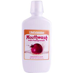 Life Extension, Mouthwash, with Pomegranate, Cinnamon Flavor, 16 fl oz (473 ml)