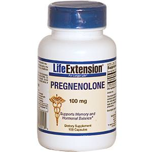Life Extension, Pregnenolone, 100mg, 100 Capsules