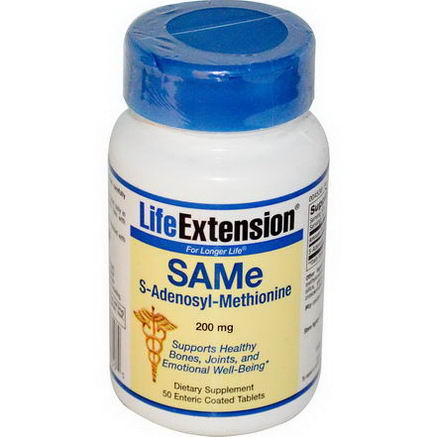 Life Extension, SAMe, 200mg, 50 Enteric Coated Tablets