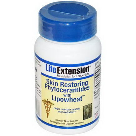 Life Extension, Skin Restoring Phytoceramides with Lipowheat, 30 Veggie Liquid Caps