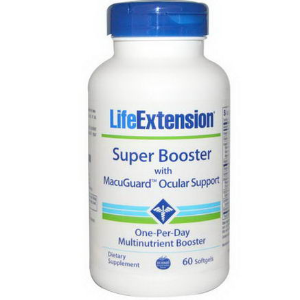 Life Extension, Super Booster with MacuGuard Ocular Support, 60 Softgels