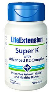 Life Extension, Super K with Advanced K2 Complex, 90 Softgels