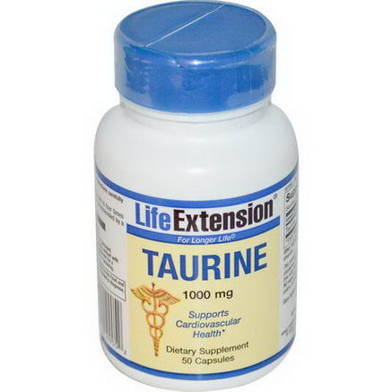 Life Extension, Taurine, 1000mg, 50 Capsules
