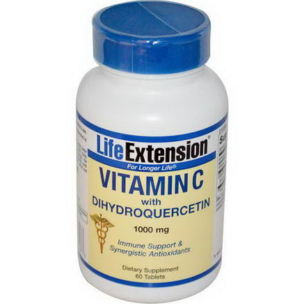 Life Extension, Vitamin C with Dihydroquercetin, 1000mg, 60 Tablets