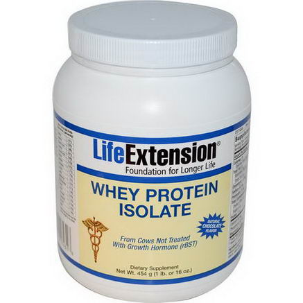 Life Extension, Whey Protein Isolate, Natural Chocolate Flavor, 16oz (454g)