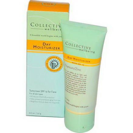 Life Flo Health, Collective Wellbeing, Day Moisturizer, Sunscreen SPF 15 for Face, 2.0oz (57g)