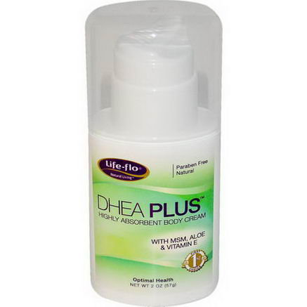 Life Flo Health, DHEA Plus, Highly Absorbent Body Cream, 2oz (57g)