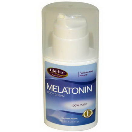 Life Flo Health, Melatonin Body Cream, 2oz (57g)