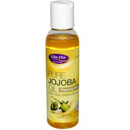 Life Flo Health, Pure Jojoba Oil, Skin Care, 4oz (118 ml)