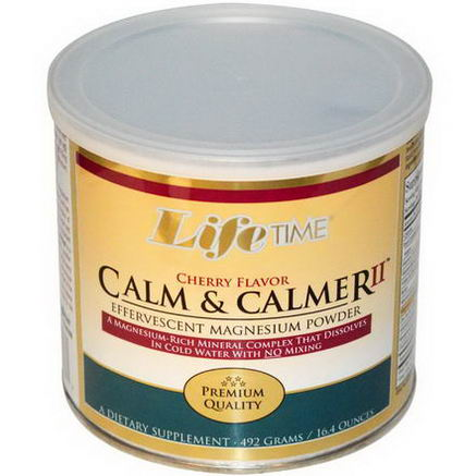 Life Time, Calm & Calmer II, Cherry Flavor, 16.4oz (492g)