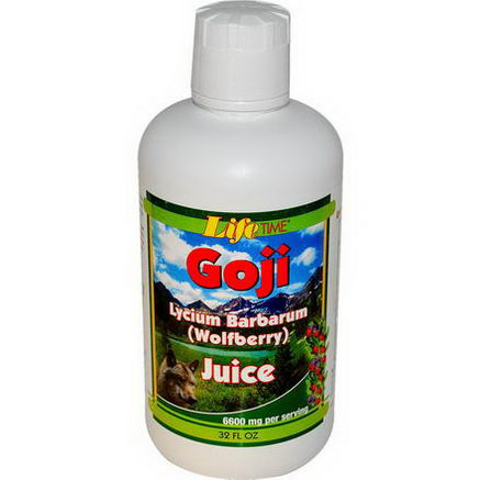 Life Time, Goji Juice, Lycium Barbarum (Wolfberry), 32 fl oz