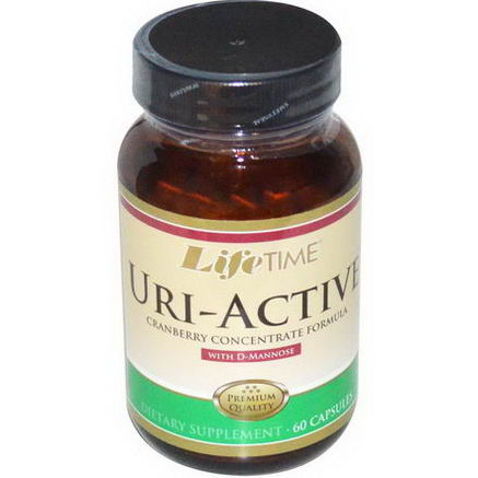 Life Time, Uri-Active, Cranberry Concentrate Formula, 60 Capsules