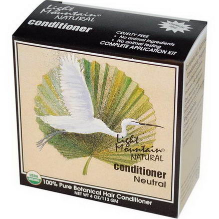 Light Mountain, Natural Conditioner, Neutral, 4oz (113g)
