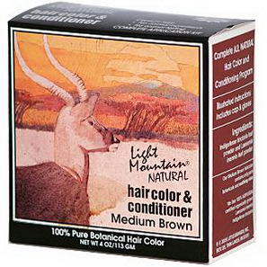 Light Mountain, Natural Hair Color & Conditioner, Medium Brown, 4oz (113g)