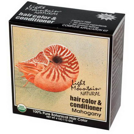 Light Mountain, Natural Hair Color and Conditioner, Mahogany, 4oz (113g)