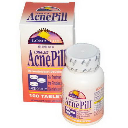 Loma Lux Laboratories, AcnePill, 100 Tablets