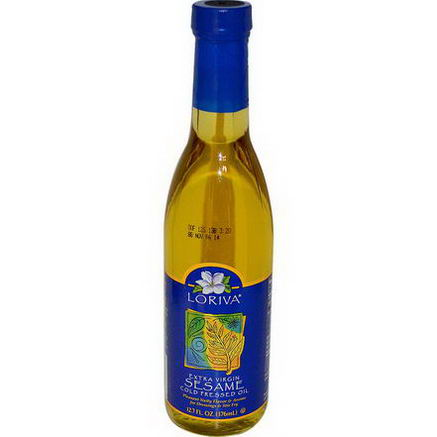 Loriva, Extra Virgin Sesame Cold Pressed Oil, 12.7 fl oz (376 ml)