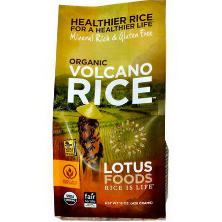 Lotus Foods, Organic Volcano Rice, 15oz (426g)