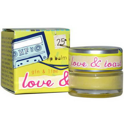 Love & Toast by Margot Elena, Lip Balm, Gin and Lime, 22oz (6g)